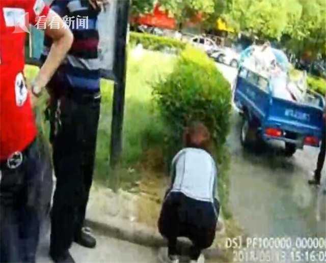 暴力阻挠治安监控安装 中年女子对民警又打又咬  监控新闻  第2张